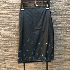 French Connection Silk Beaded Skirt